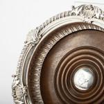 George III silver coaster