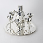 Art Deco silver cocktail set