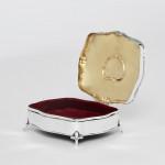 Antique silver jewellery box