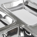Pair silver entrée dishes