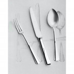 Plain Pine silver-plated cutlery for 12