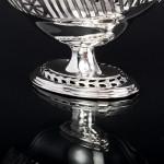 Victorian silver pedestal dish