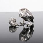 Antique silver partridge pepper pot