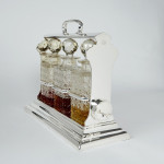Antique silver-plated tantalus