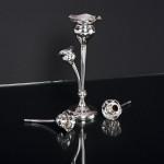Edwardian silver trumpet épergne