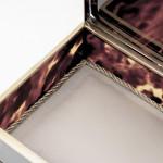 Silver-gilt & tortoiseshell trinket box