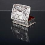 Victorian silver trinket box