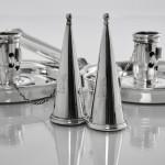 Pair Victorian silver chambersticks