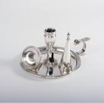 George III silver chamber candlestick