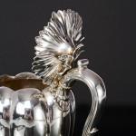 William IV silver pumpkin teapot