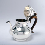 Queen Anne style silver bachelor teapot
