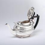 George III style silver bachelor teapot