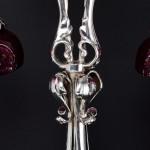 Rare Art Nouveau silver table lamp