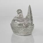 Indian colonial silver egg basket