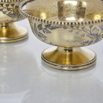 Pair Victorian silver-gilt salt cellars