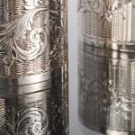 Pair antique silver napkin rings