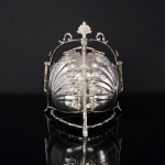 Tri-form silver biscuit box