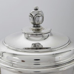 Two-handled silver trophy cup & cover