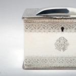 Victorian silver tea caddy