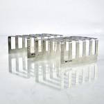 Pair mid-century silver toast racks