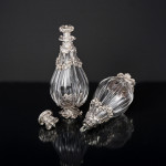 Pair 1st quality antique French wine decanters