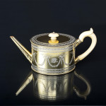 Victorian matched silver-gilt tea set