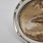 Silver-plated horse hoof inkwell