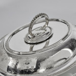 Pair Victorian silver-plated entrée dishes