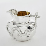3-piece antique Chinese silver tea set