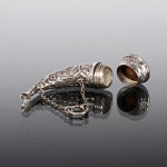 Victorian silver scent horn