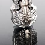Miniature silver cello