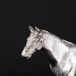 Silver model racehorse