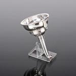 Modern silver wine funnel