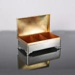 Silver cigar box