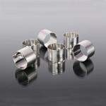 Set six silver napkin rings