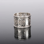 Pierced silver napkin ring