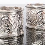 Pair Victorian silver napkin rings