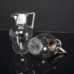 Pair of Victorian silver & crystal claret jugs