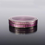 Antique oval enamel trinket box