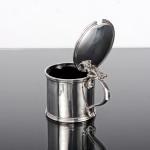 George II style silver mustard drum