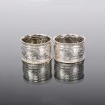 Pair of silver napkin rings
