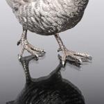 Pair model silver partridges