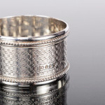 Set Victorian silver napkin rings