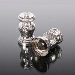 Pair Victorian silver pepper grinders