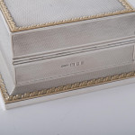 Art Deco silver & gilt playing cards box