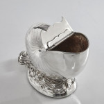 Silver-plated nautilus spoon warmer