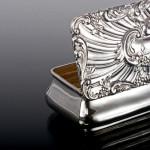 Antique silver trinket box