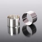 Pair plain silver napkin rings
