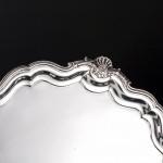 "12"" George II silver salver"