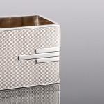 Rectangular Art Deco silver napkin ring